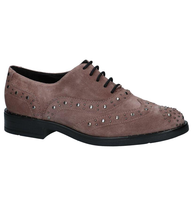 Gadea Chaussures à lacets en Rose foncé en daim (232085)