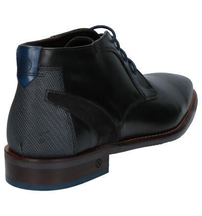 Ambiorix Daring Chaussures à lacets en Noir en cuir (259384)