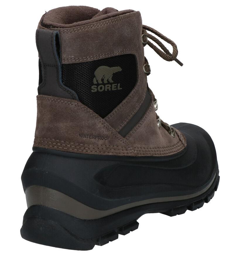 Sorel Chaussures de randonnée en Vert kaki en daim (252846)