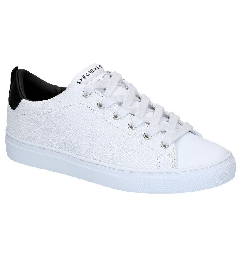 Skechers Chaussures à lacets en Blanc en cuir (272783)