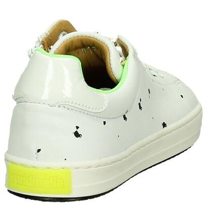Rondinella Witte Lage Meisjes Sneakers in leer (194082)