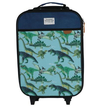 Blauwe Trolley Skooter in stof (260746)