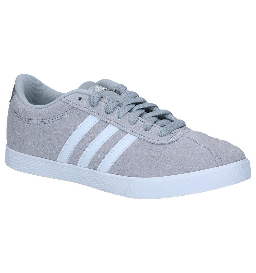 adidas Courtset Zwarte Sneakers in kunstleer (276457)