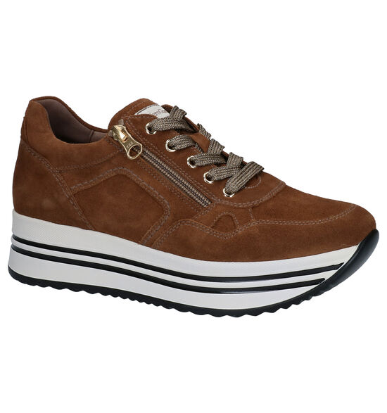 NeroGiardini Chaussures à lacets en Cognac