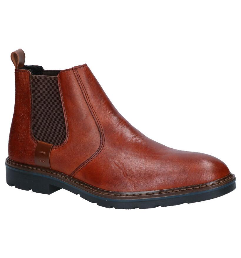 Rieker Cognac Chelsea Boots in leer (262167)