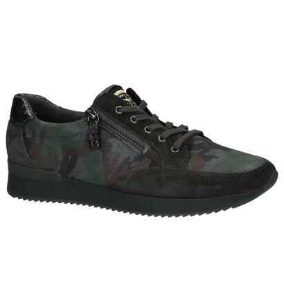 Gabor Chaussures à lacets en Vert kaki en cuir (231172)