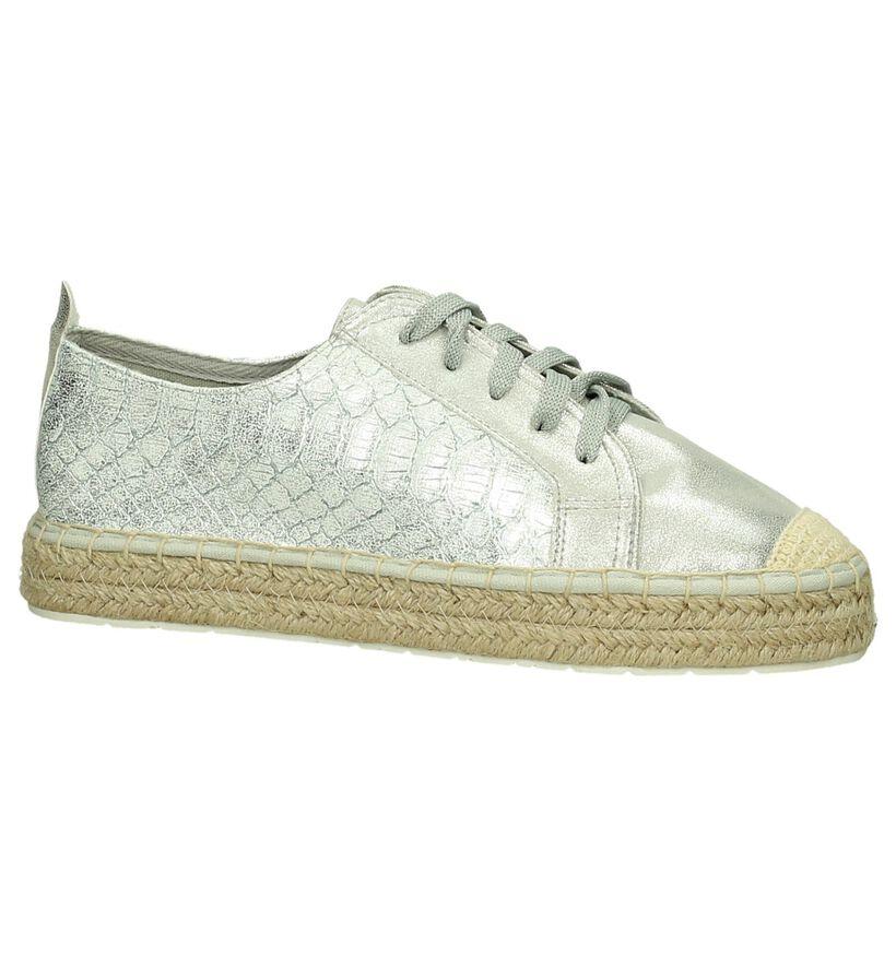 Marco Tozzi Chaussures à lacets en Argent en simili cuir (193064)