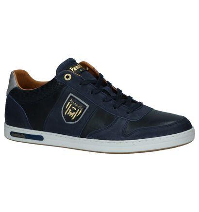 Pantofola d'Oro Milito Low Blauwe Veterschoenen in leer (267930)