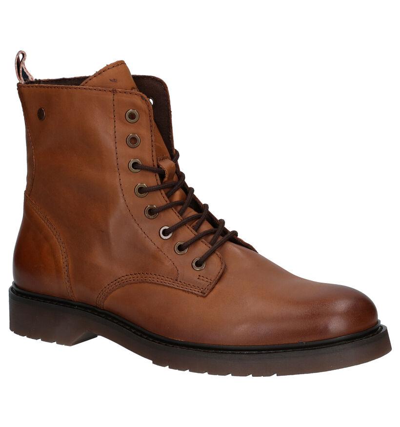 Jack & Jones Norse Cognac Boots in leer (278262)