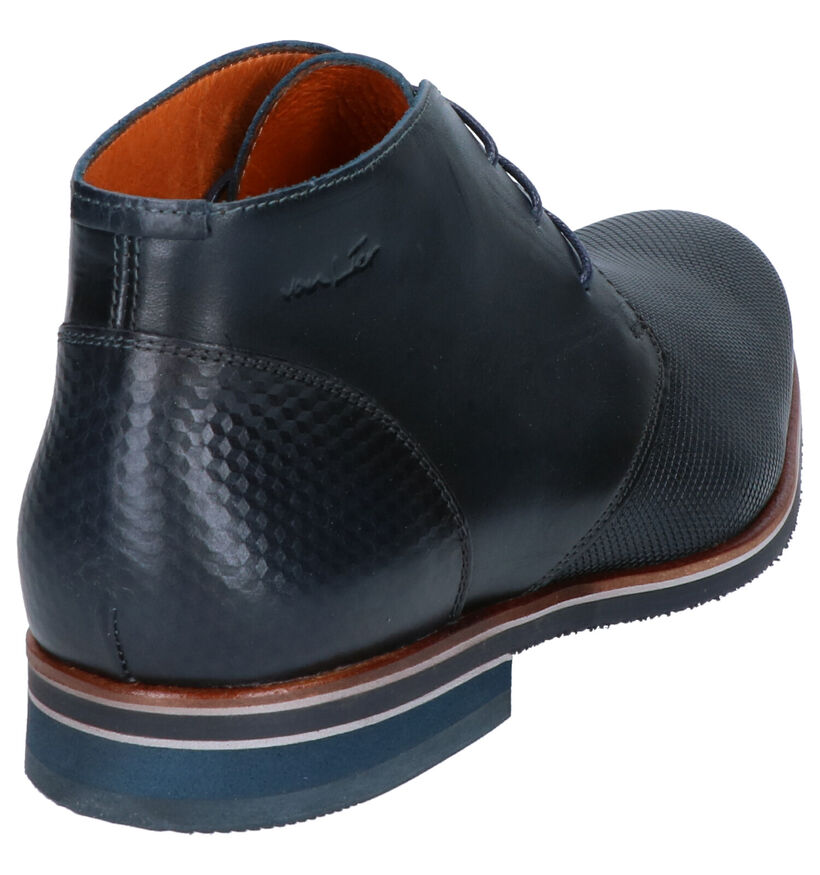 Van Lier Chaussures hautes en Bleu foncé en cuir (261903)