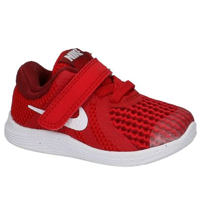 Rode Babysneakers Nike Revolution 4 TDV in stof (210011)