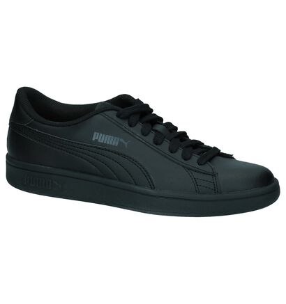 Zwarte Sneakers Puma Smash v2 in kunstleer (252636)