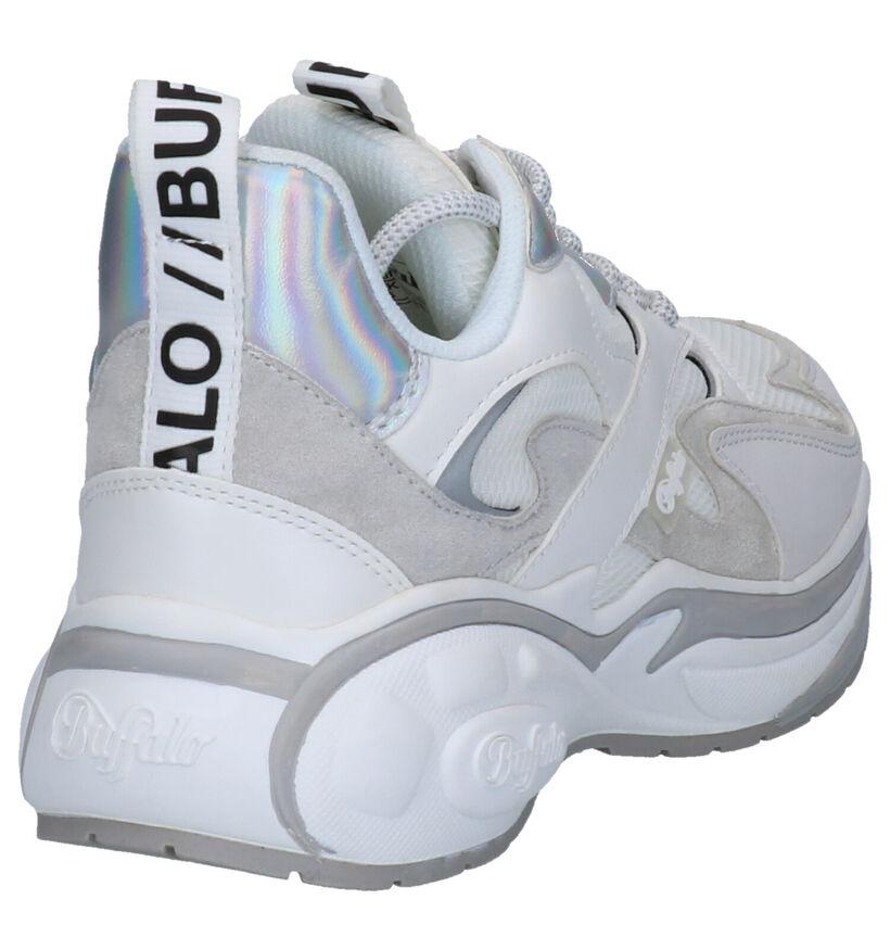 Buffalo Cai Witte Sneakers in kunstleer (256913)