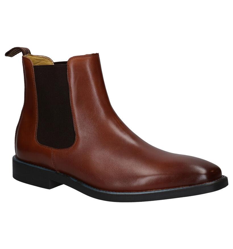 Steptronic Mayfair Cognac Chelsea Boots in leer (281379)