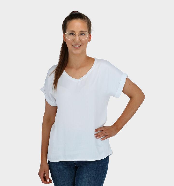 iSilk T-shirt Manches Courtes en Blanc