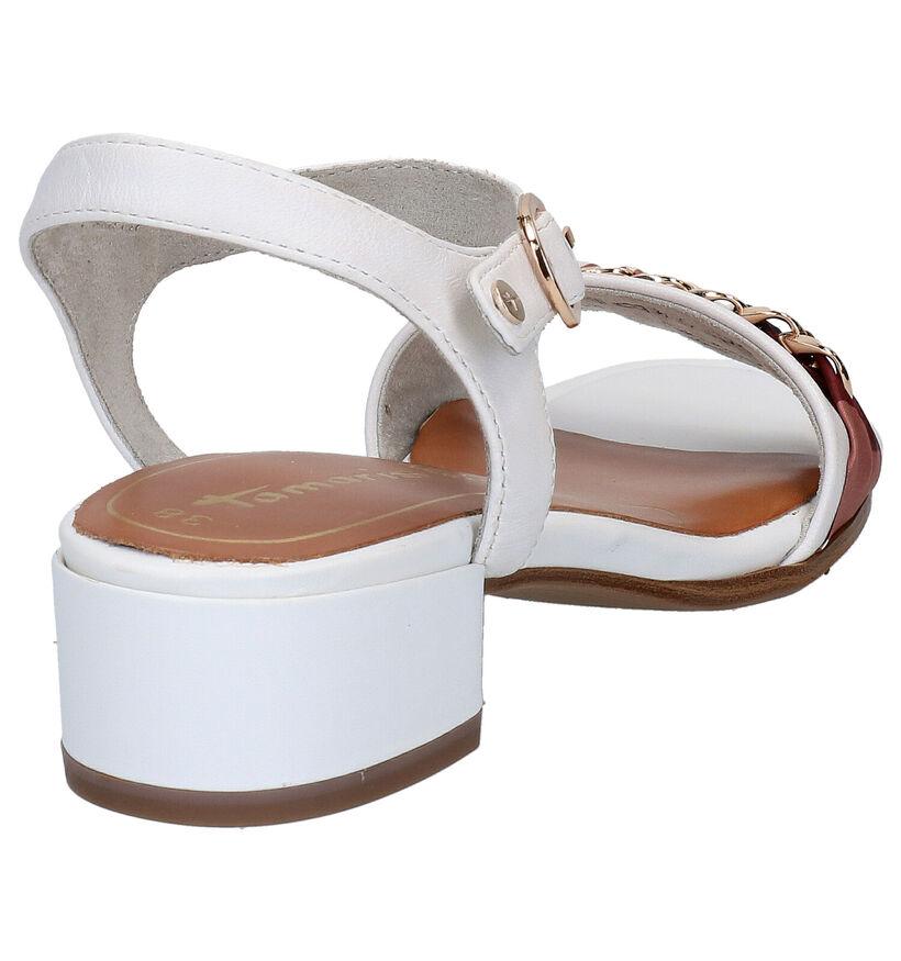 Tamaris TOUCH it Sandales en Blanc en cuir (270117)