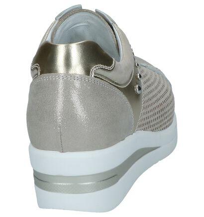 NeroGiardini Chaussures à lacets en Argent en cuir (244461)