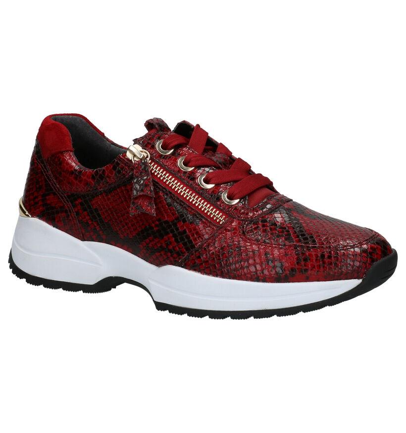 Gabor OptiFit Chaussures basses en Rouge en cuir (260105)