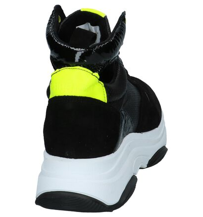 Steve Madden Zova Zwarte Sneakers in leer (236926)