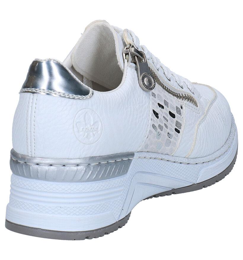 Rieker Chaussures à lacets en Blanc en simili cuir (273660)