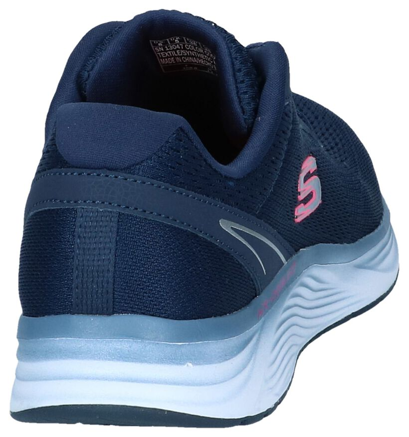Zwarte Sneakers Skechers Skyline in stof (252003)