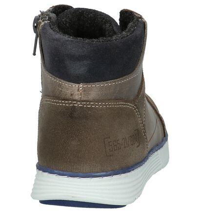 Grijze Bollboxer Boots met Rits/Veter in leer (202378)