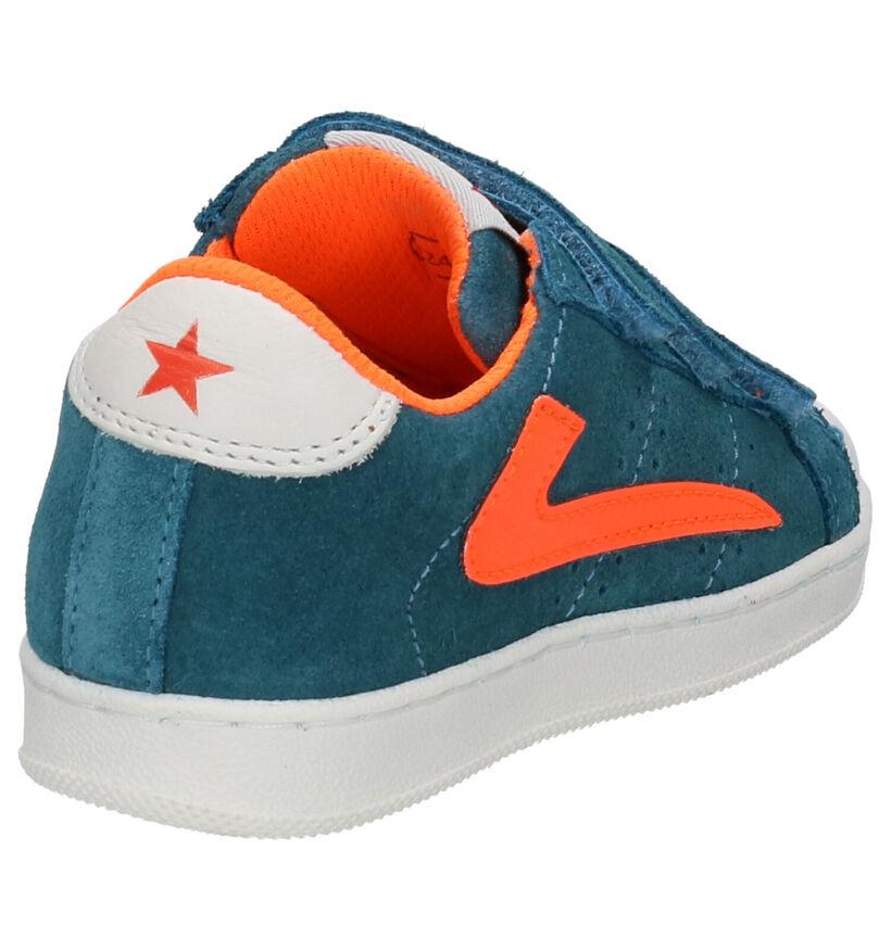 Little David Parker Chaussures à Velcro en Bleu en daim (273310)
