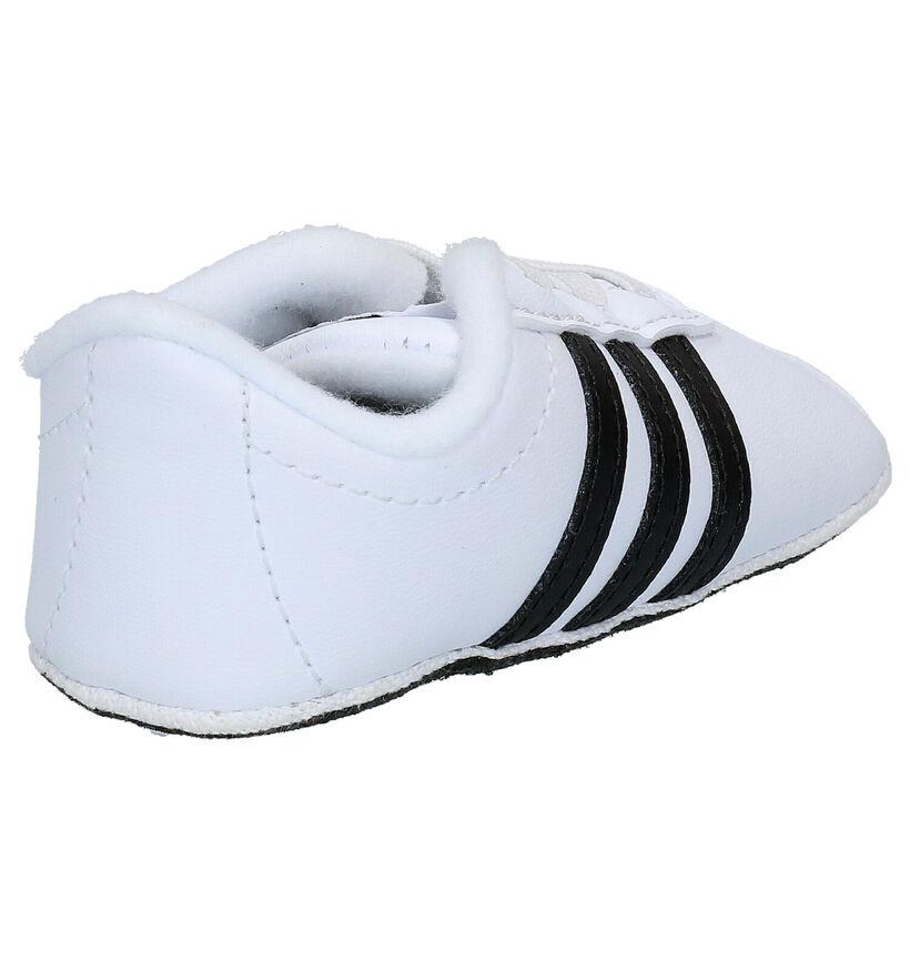 adidas VL Court 2.0 Crib Baskets bébé en Blanc en simili cuir (273486)