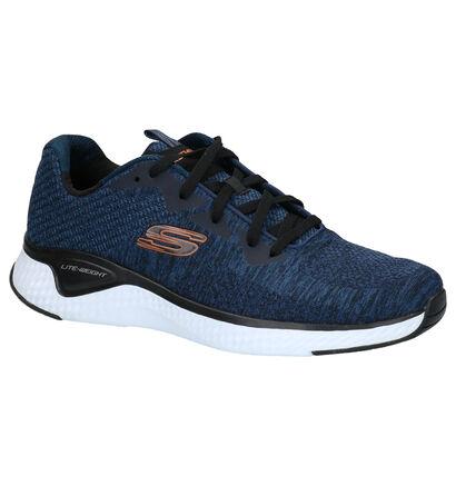 Skechers Baskets basses en Bleu foncé en textile (254279)