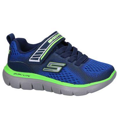 Blauwe Sneakers Skechers Flex Advantage in stof (250711)