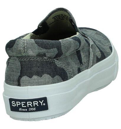 Sperry Striper Grijze Slip-on Sneakers , Grijs, pdp