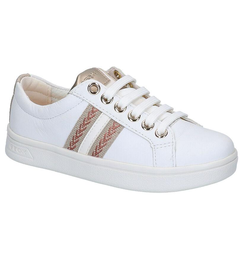 Geox Chaussures basses en Blanc en cuir (265757)
