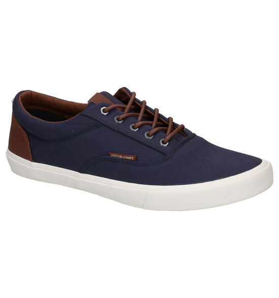 Jack & Jones Vision Mixed Blauwe Veterschoenen
