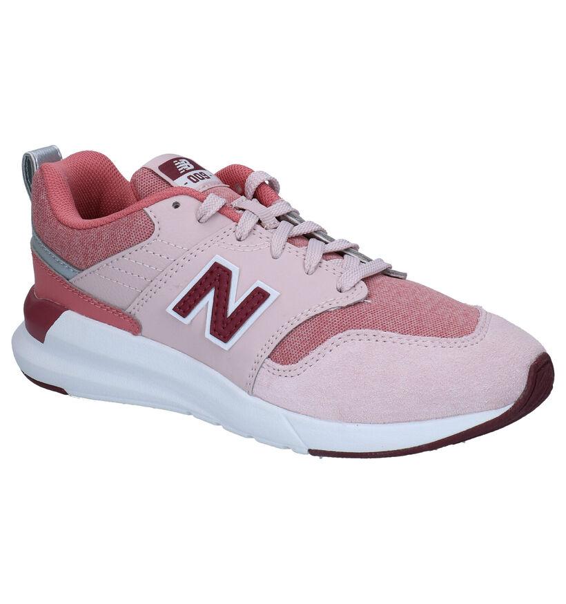 New Balance YS009 Roze Sneakers in kunstleer (276830)