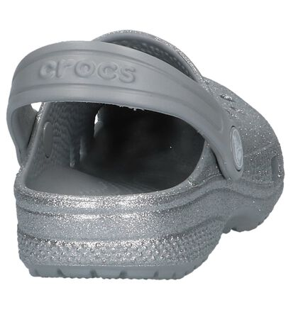 Crocs Classic Glitter Clog Nu-pieds en Argent en synthétique (224388)