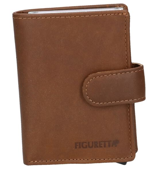 Cognac Kaartenhouder Euro-Leather