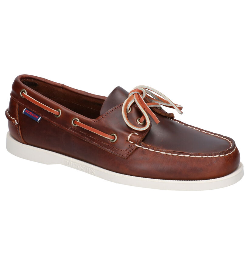 Sebago Chaussures bateau en Brun foncé en cuir (269352)