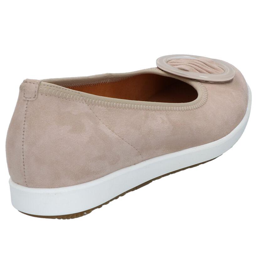 Gabor Easy Walking Taupe Ballerina's in daim (271491)