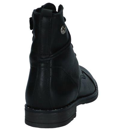 Zwarte Boots met Rits/Veter Scapa in leer (235881)
