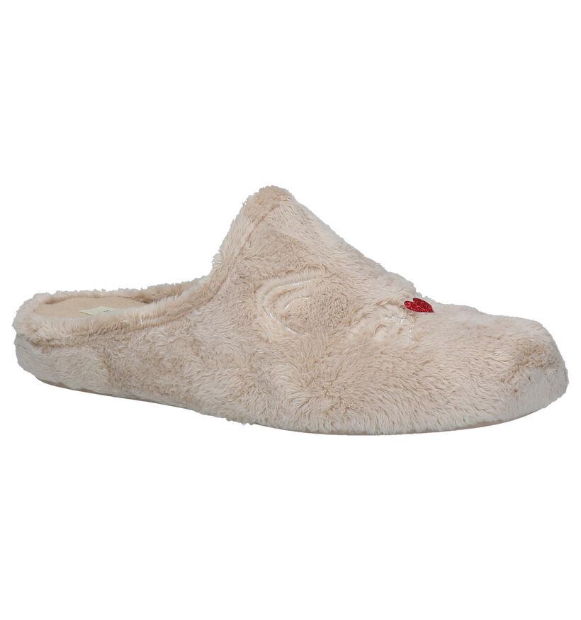 River Woods Pantoufles ouvertes en Beige clair en textile (281923)