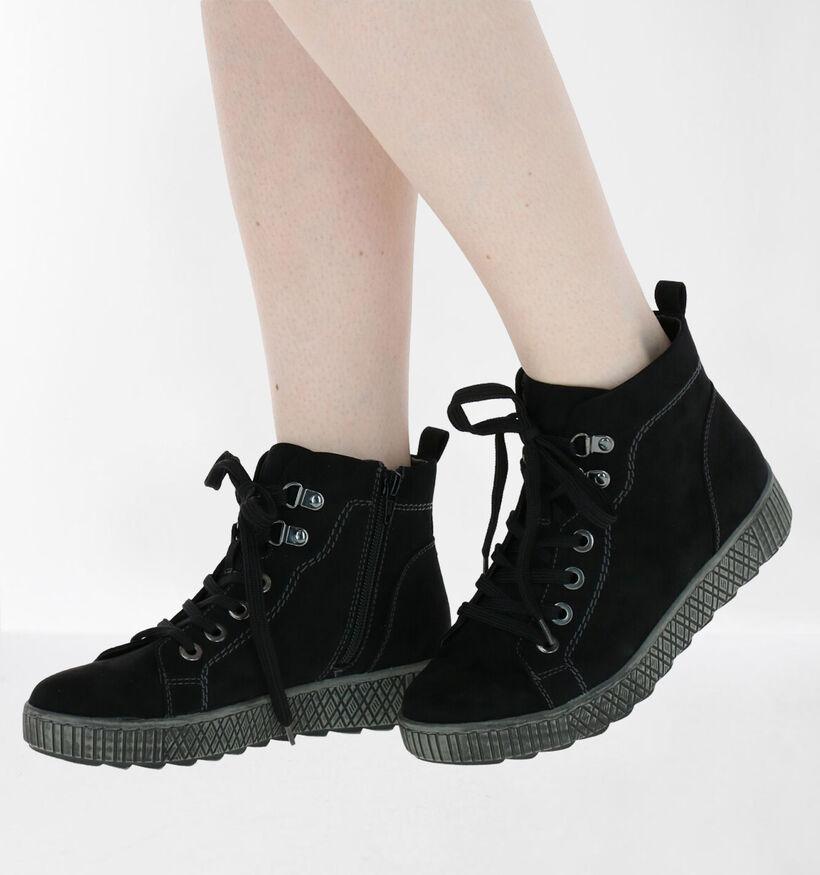 Jana Zwarte Boots in stof (280900)