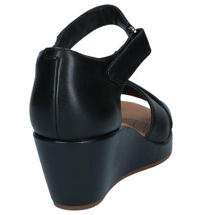 Clarks Sandales à talons en Noir en cuir (241581)