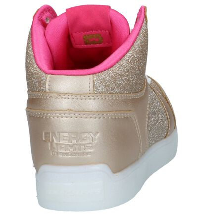 Skechers Baskets basses en Or en imitation cuir (222866)