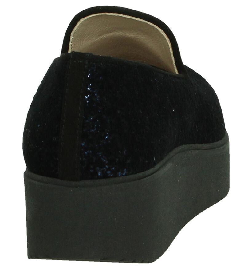 Unisa Chaussures slip-on en Bleu foncé en textile (186220)