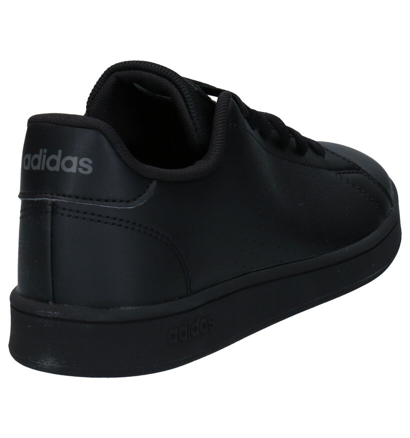 adidas Advantage K Zwarte Sneakers in kunstleer (273469)