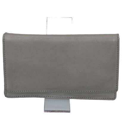 Zwarte Overslagportefeuille Euro-Leather in leer (250868)