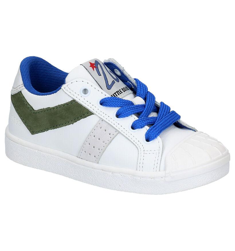 Witte Lage Sneakers Little David Palmer in leer (273230)