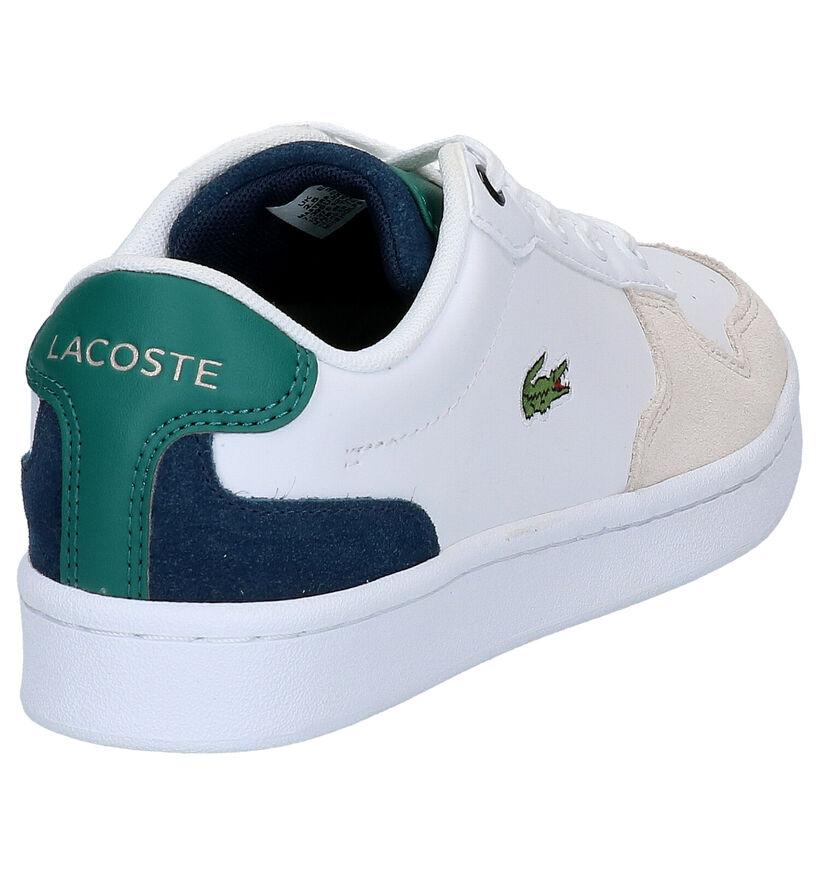Lacoste Masters Cup Witte Sneakers in kunstleer (271074)