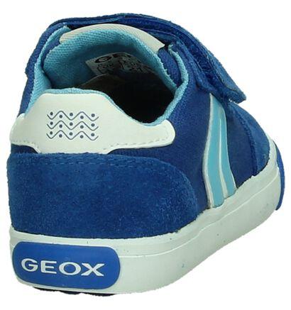 Geox Chaussures basses en Bleu en textile (190637)