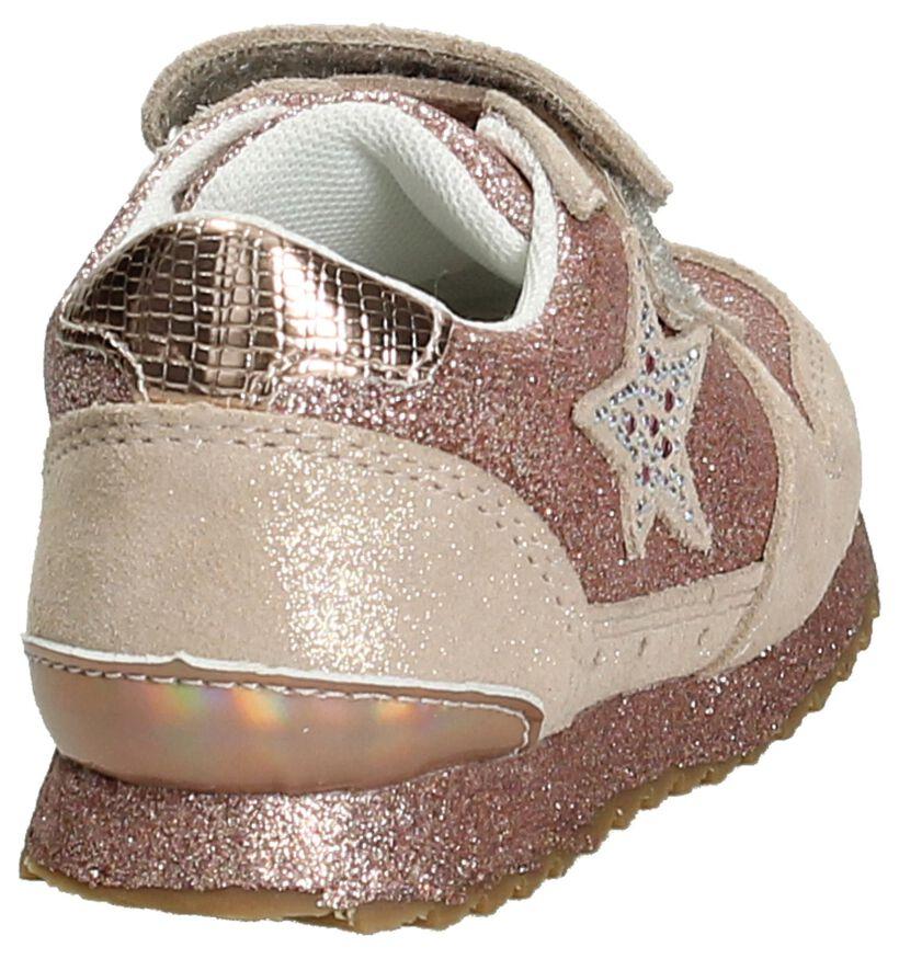 Little David Roze Sneakers met Velcro/Veter in leer (195837)